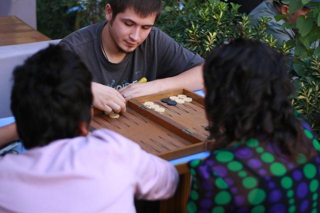 Skupinka hrající hru