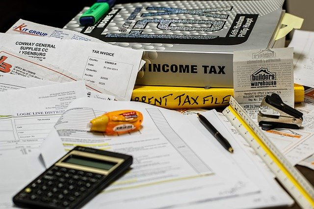 kalkulačka, účetnictví, kancelář