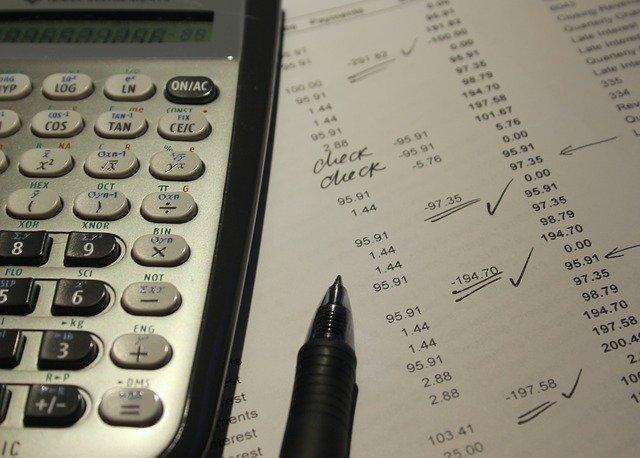kalkulačka, účetnictví, výpočet